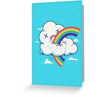 Cloud Hates Rainbow Greeting Card