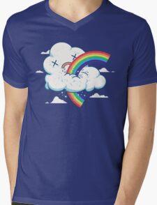 Cloud Hates Rainbow Mens V-Neck T-Shirt