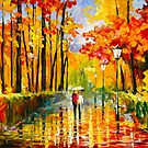 AUTUMN RAIN by Leonid  Afremov