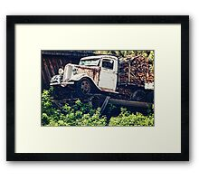 Precarious Parking 2  Framed Print
