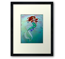 Water Color Mermaid Framed Print