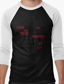 EMINEM MOTIVATIONNAL SHIRT BLACK&RED Men's Baseball ¾ T-Shirt