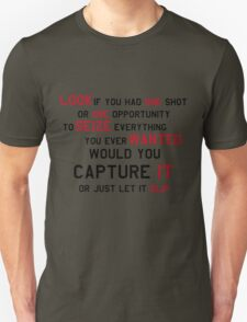 EMINEM MOTIVATIONNAL SHIRT BLACK&RED T-Shirt