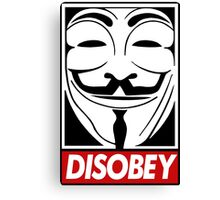 Guy Fawkes Disobey Canvas Print