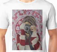 Selfie, watercolor and mixed media on paper Unisex T-Shirt