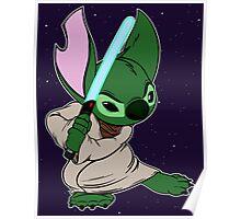 Yoda Stitch Poster