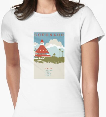 Coronado - California. Womens Fitted T-Shirt