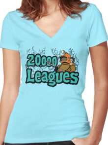 20,000 Leagues Under The Sea Women's Fitted V-Neck T-Shirt