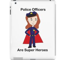 Police Officers Super Heroes (Female) iPad Case/Skin