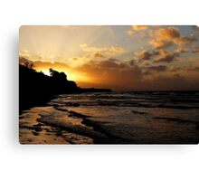 Evening clouds at the Baltic Sea Canvas Print