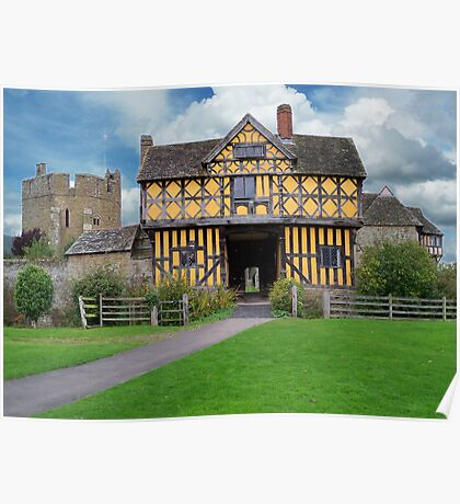 Stokesay Castle Entrance Poster