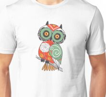 Colorful Cartoon Cute Floral Owl Unisex T-Shirt
