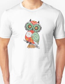 Colorful Cartoon Cute Floral Owl T-Shirt