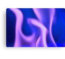 Purple Ghost Fire Canvas Print