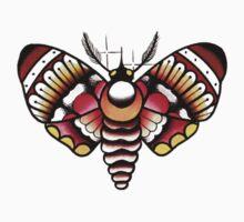 Flower Moth Tee by Jack Wolf