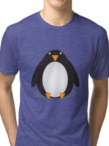 Penguin Cartoon Tri-blend T-Shirt