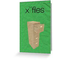 The X-Files minimalist poster Greeting Card