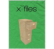 The X-Files minimalist poster Photographic Print