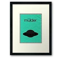 X-Files minimalist poster, Mulder Framed Print