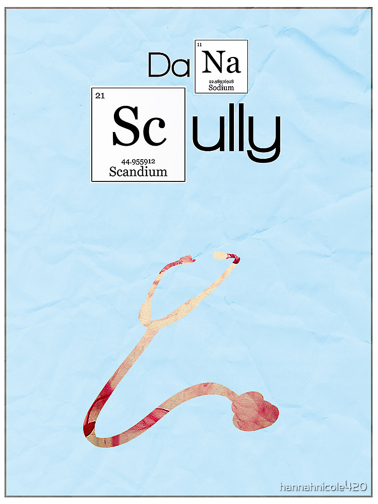 X-Files minimalist poster, Scully by hannahnicole420