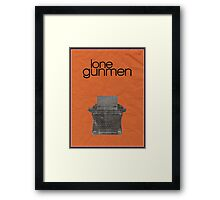 X-Files minimalist poster, Lone Gunmen Framed Print