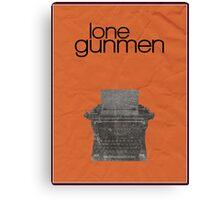 X-Files minimalist poster, Lone Gunmen Canvas Print