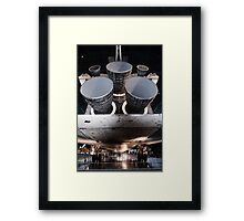 Discovery Shuttle Engines Framed Print