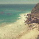Vintage Malibu Beach Print by Honey Malek