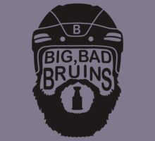 Big Bad Bruins Beard Kids Clothes
