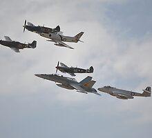 Fighter Formation Flypast, Temora Airshow, Australia 2013 by muz2142