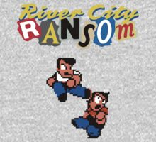 River City Ransom Shirt (Logo w/ 8-Bit Characters) by CountLatchula