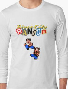 River City Ransom Shirt (Logo w/ 8-Bit Characters) Long Sleeve T-Shirt