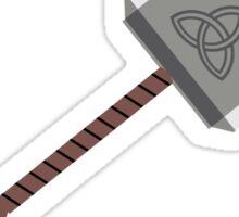 Meow Meow Thor's hammer Sticker
