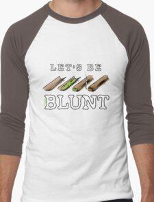 Let's Be Blunt Cartoon Tee Men's Baseball ¾ T-Shirt