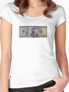 100 dollar bill Women's Fitted Scoop T-Shirt