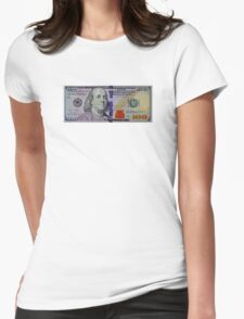 100 dollar bill Womens Fitted T-Shirt