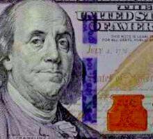 100 dollar bill Sticker