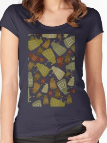 Doctor Who - DALEK Camouflage TEE Women's Fitted Scoop T-Shirt