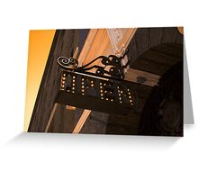 OPEN - Vintage Sign Greeting Card