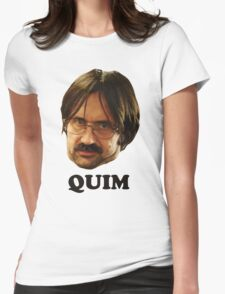 QUIM - Text Womens Fitted T-Shirt