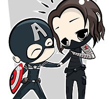 Captain America & The Winter Soldier by JotunRunt