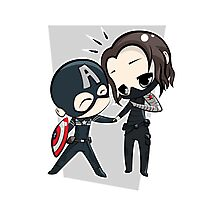 Captain America & The Winter Soldier Photographic Print