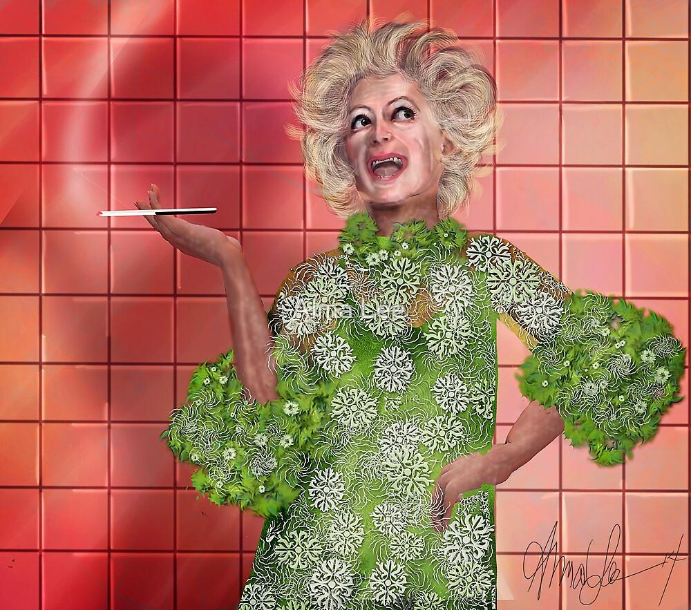 Ha!: Portrait of Phyllis Diller by Alma Lee