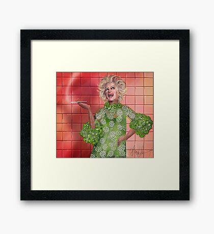 Ha!: Portrait of Phyllis Diller Framed Print
