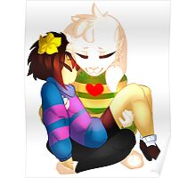 Undertale - Asriel and Human Poster