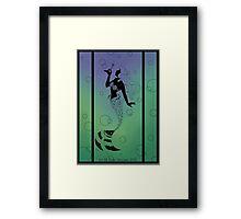 Silhouette Ariel Framed Print