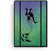 Silhouette Ariel Canvas Print