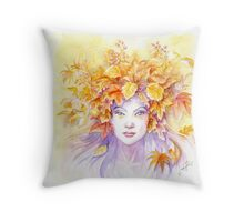 Crown of Autumn Throw Pillow