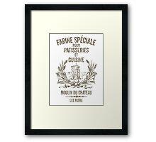 French Flour Sack Illustration Framed Print