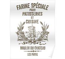 French Flour Sack Illustration Poster